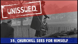 Churchill Inspects WW2 Troops (1943) - Unissued Nº35
