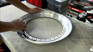 Refinishing 3 Piece Wheels - Polishing Lips