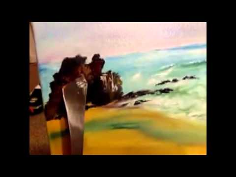 how to paint ocean on canvas by zara amin