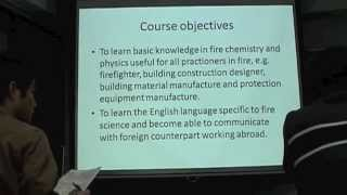 Fundamentals of Fire Physics and Chemistry I   (Lesson 1)