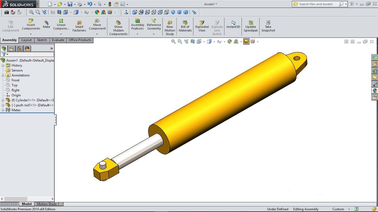 Solidworks Tutorial Forklift 23 Hydraulic Cylinders