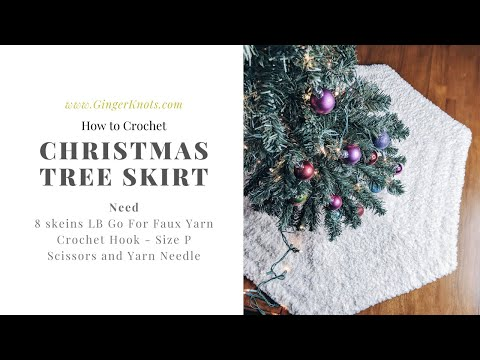 How To Crochet A Tree Skirt: Faux Fur Or Super Bulky - Fast Tutorial