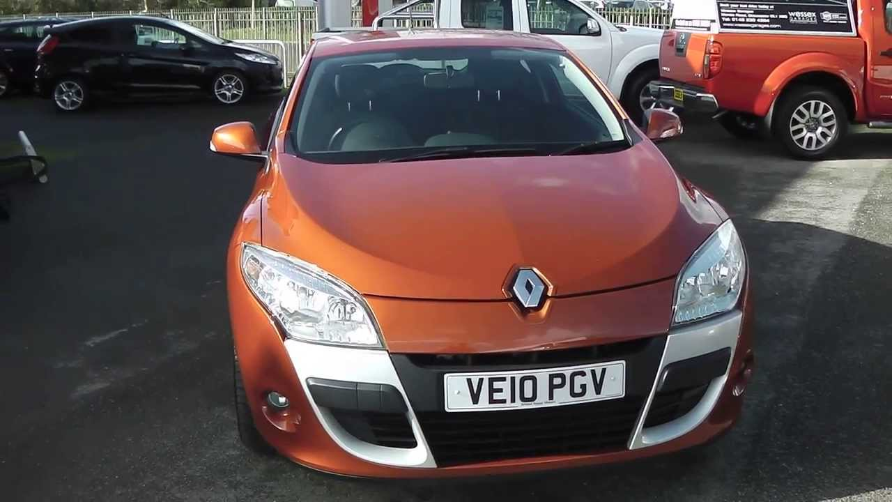 ve10pgv renault megane coupe expression in orange at wessex garages gloucester youtube. Black Bedroom Furniture Sets. Home Design Ideas