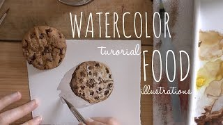 Speed Painting: Cookies Food Illustrations Hyper Realism