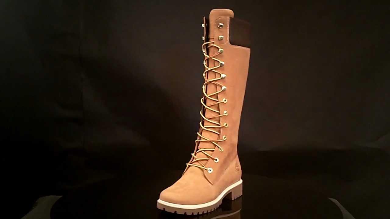 womens timberland 14 inch premium wheat nubuck boots