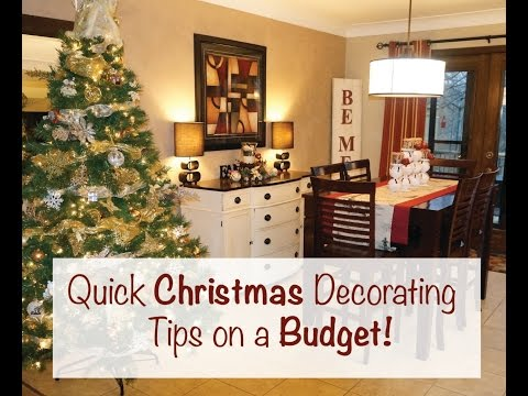 Quick Christmas Decorating Tips On Budget