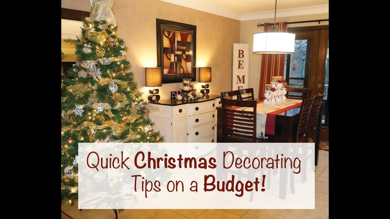 quick christmas decorating tips on a budget youtube