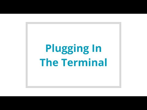 Plugging in the terminal