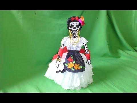 Como Vestir Calavera Con Papel Crepe Estilo Veracruz Youtube