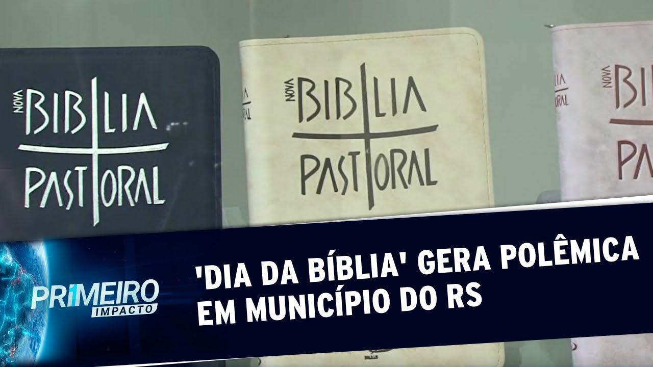 Vereador propõe 'Dia da Bíblia' e cria polêmica em município | Primeiro Impacto (11/10/19)