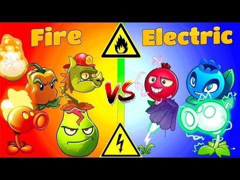 Plants vs Zombies 2 Gameplay Fire Plants vs Electric Plants Challenge Primal PVZ 2 Game
