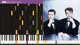 How to play Pet Shop Boys Go West   Piano tutotial  100% speed