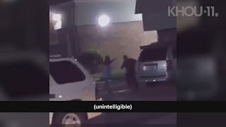 Raw: Witness video shows officer shooting woman outside Baytown, Texas apartment