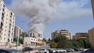 Intervention des canadairs sur l'incendie au quartier de Pietralba, Ajaccio