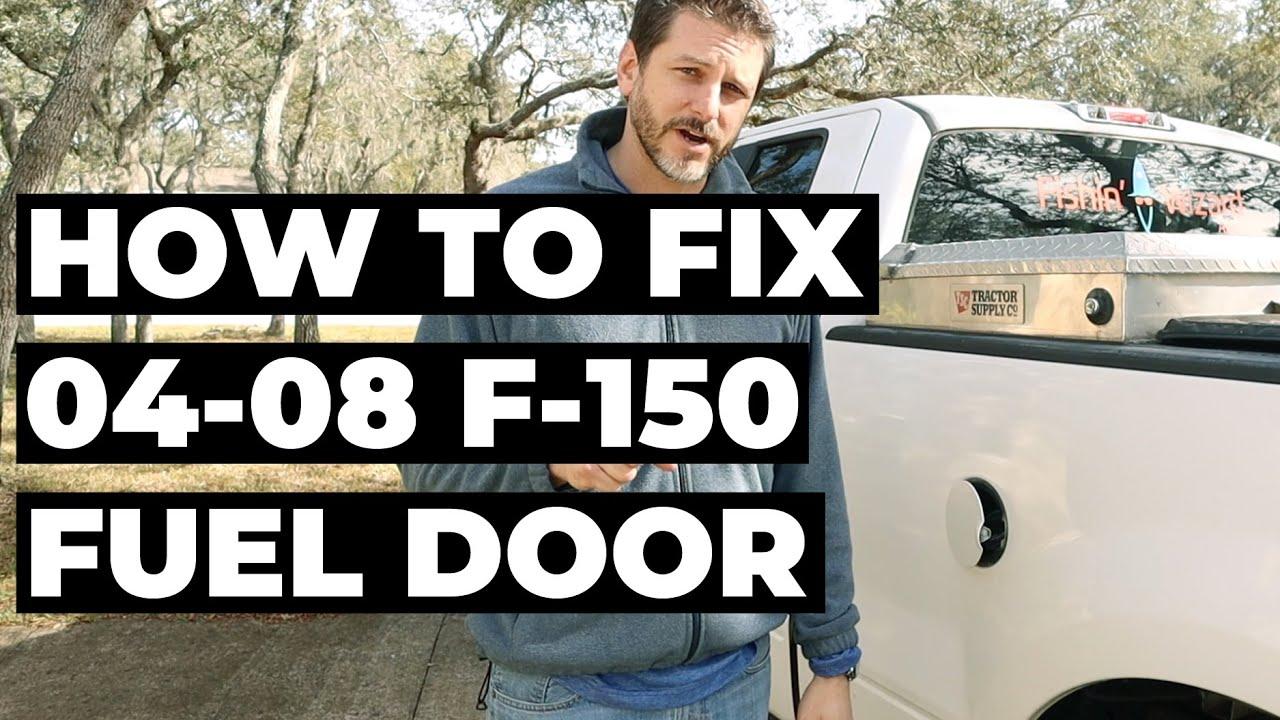 How To Fix An 04 08 F150 Fuel Door Youtube