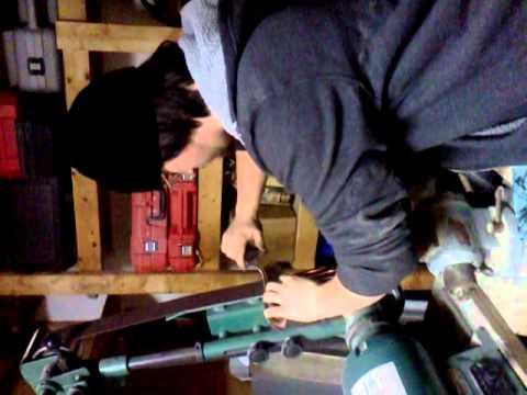 Kukhri grinder sharpening