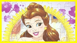 Disney Princess Puzzles For Kids Belle Ariel принцесса пазлы ディズニープリンセス パズル rompecabezas princesa