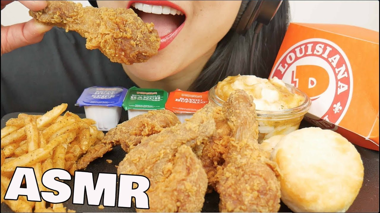 Popeyes Fried Chicken: ASMR POPEYES FRIED CHICKEN (EATING SOUNDS) NO TALKING