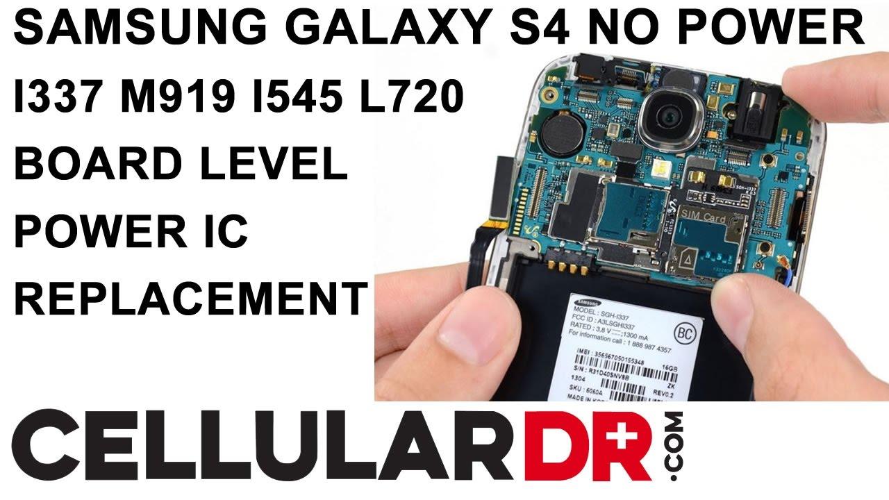 samsung galaxy s4 i337 m919 i545 l720 no power fixed dead won t turn on qualcomm pm8917 repair [ 1280 x 720 Pixel ]