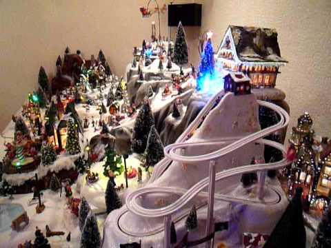 Village De Noel Decoration Blanche