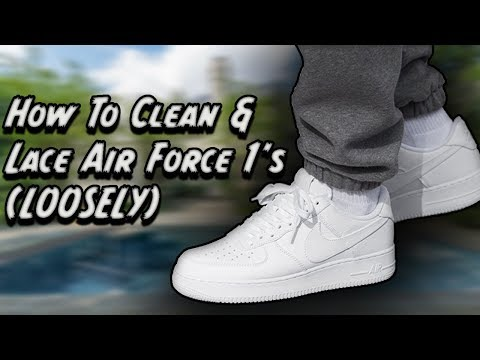 HOW TO CLEAN AND LACE WHITE AIR FORCE 1'S