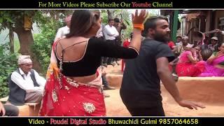दाह्रीवाला र साडीवालीको जोशिलो दोहोरि नाच || Panche baja Joint Dance @ GULMI