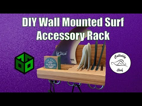DIY Wall Mounted Surf Board Accessory Rack