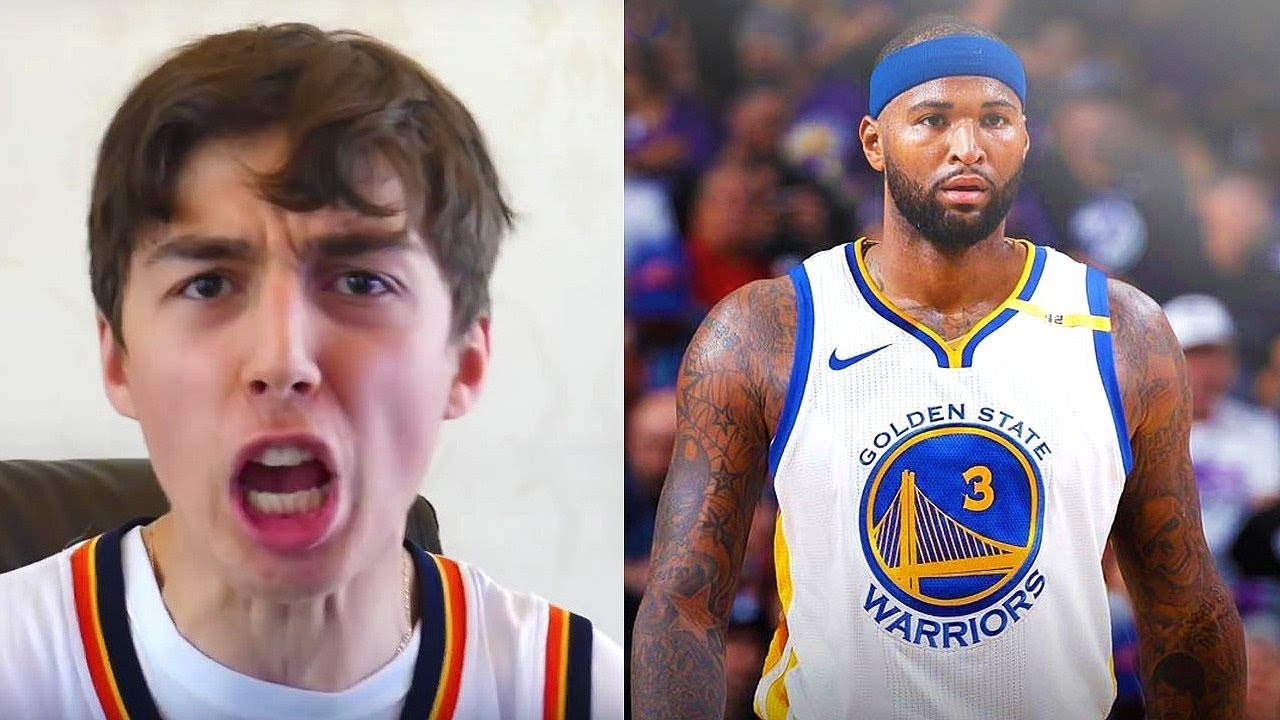 huge discount 6d0f1 0e163 DEMARCUS COUSINS SIGNS WITH THE GOLDEN STATE WARRIORS REACTION