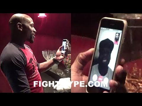 Thumbnail: MAYWEATHER FACETIMES 50 CENT WHILE WATCHING POWER; GIVES HIM MCGREGOR TRAINING CAMP UPDATE