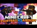 Minecraft Airsoft Gun Mod Vs Paintball Gun Mod (Mod Battles)