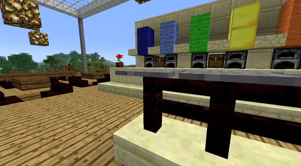 Minecraft Cafe Design - YouTube