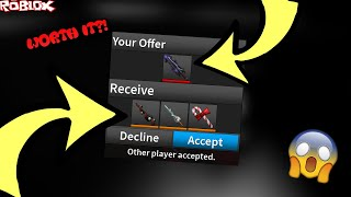 TRADING MY COMPETITOR BLADE II FOR A KRAMPUS AND SPRING SABER WITH A CANDY BLADE!? (ROBLOX ASSASSIN)