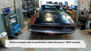 Last MoT EVER for my Dodge Charger? Classic car MoT exemption explained - Jonny Smith Carpervert