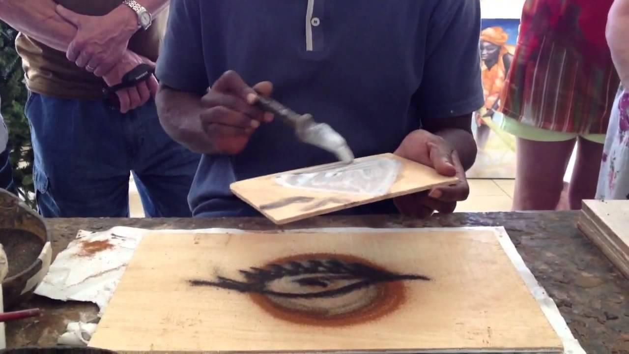 Peinture avec du sable youtube for Peinture avec du sable