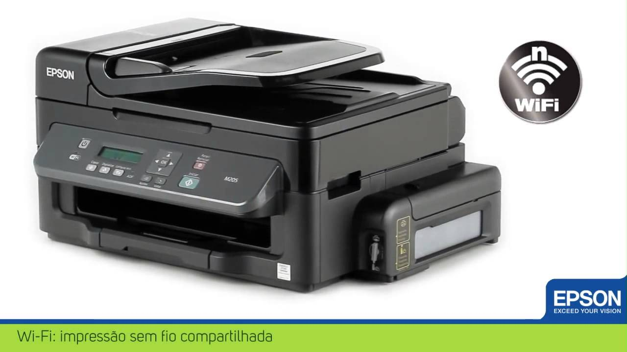 Multifuncional Monocrom 225 Tica Epson Workforce M205 Youtube