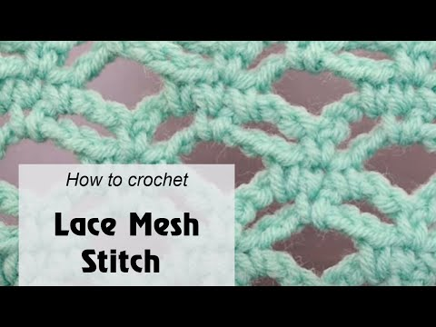 How to crochet Lace 3d network pattern – Free crochet pattern