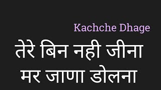 Download lagu Tere Bin Nahi Jina Mar Jana Dolna Lyrics Hindi तेरे बिन नही जीना मर जाणा डोलना by PK