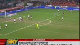 "Milan - Reggina  1-1  7-2-2009 Highlight    ""Caressa"""