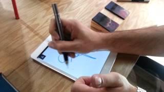 Jot Touch Pressure Sensitive Stylus Palm Rejection Demo