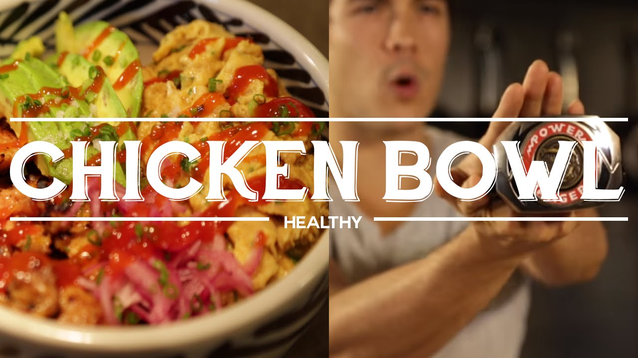 Chicken and Egg Brown Rice Protein Bowl - Power Meal fit for a Power Ranger