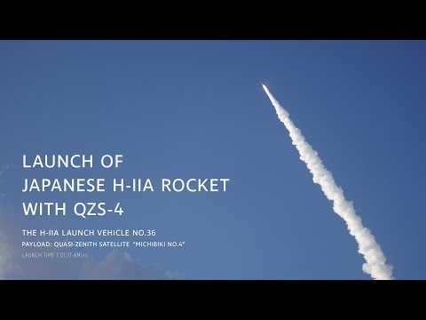 LAUNCH OF JAPANESE H-IIA ROCKET WITH QZS-4