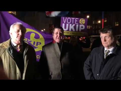 UKIP Responds to Article 50 extension and Brexit betrayal outside the Houses of Parliament