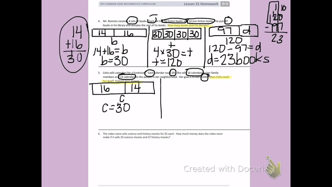 Eureka Math Worksheets 3rd Grade Lesson 21 Eureka Best Free Printable Worksheets