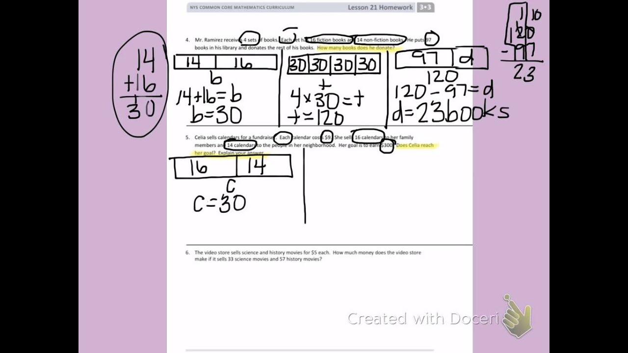 Eureka Math Worksheets 3rd Grade Lesson 21 Eureka Best