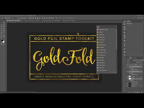 Create Gold Foil Effects with Gold Foil Stamp Toolkit - only $7