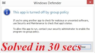 How to turn on Windows Defender via group policy [in just 30 secs]