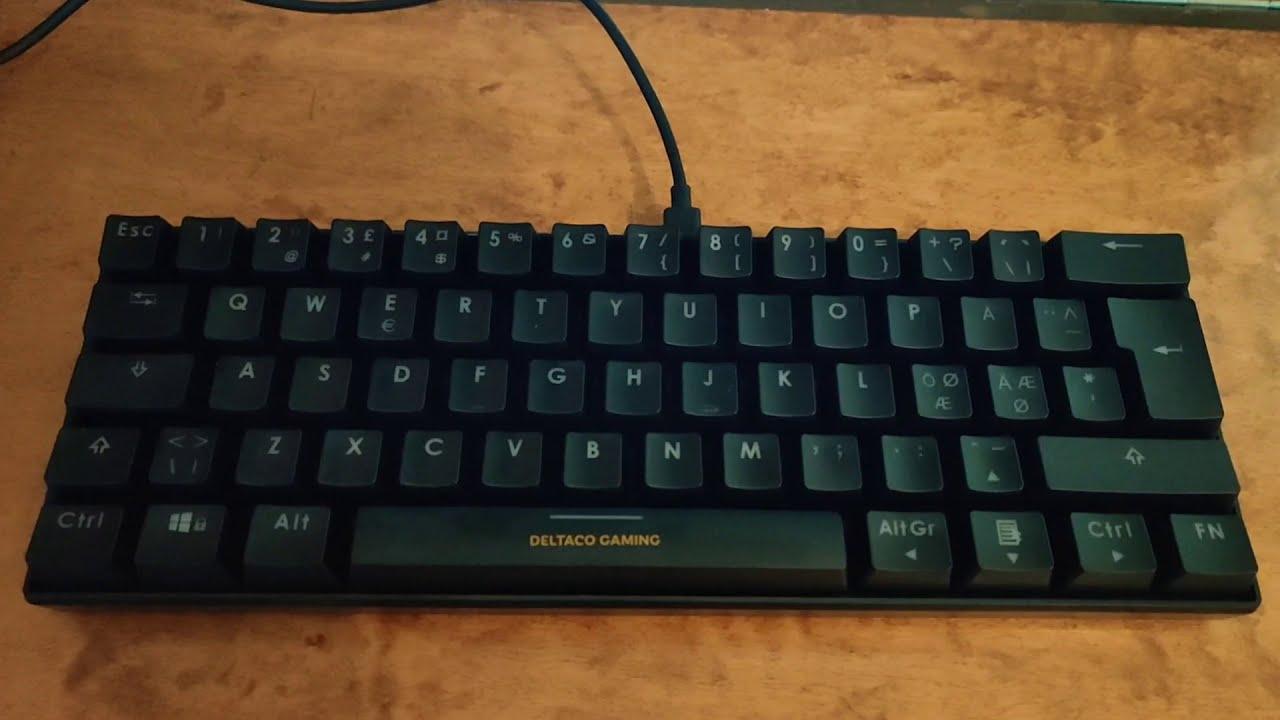 Deltaco GAM 075 tastatur | Gaute Holmin Teknologi, livet