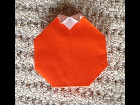簡単 折り紙 折り紙 みかん : youtube.com