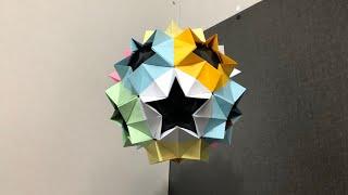 Как сделать футбольный мяч из бумаги. Origami DIY. How to make a paper soccer ball DIY. Бумажный мяч