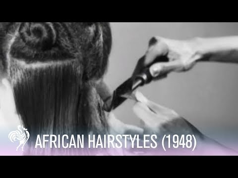Life Before GHD Hair Straighteners! (1948 Straightening Tutorial for Black Women's Hair)